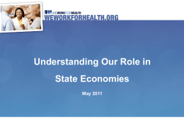 Understanding Our Role in State Economies May 2011