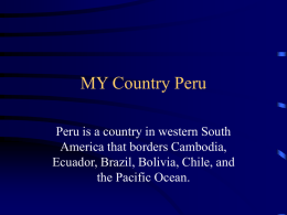 MY Country Peru