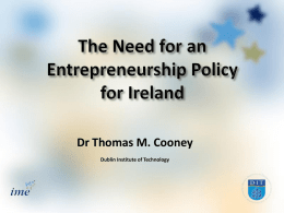Dr Thomas M. Cooney Dublin Institute of Technology
