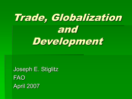 Trade, Globalization, and Development