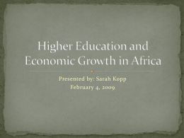 Higher Education and Economic Growth in Africa