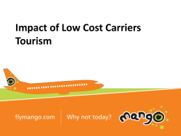 Economic Impact of Low Cost Airlines (Mango)