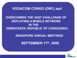 Vodacom in the DRC