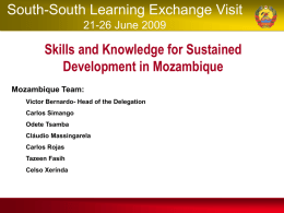 Science and Technology Strategy of Mozambique