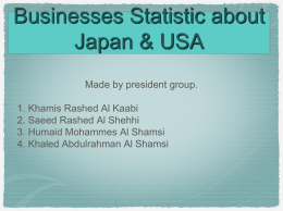 Businesses Statistic about Japan & USA