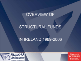 Overview of Structural Funds in Ireland 1989-2006