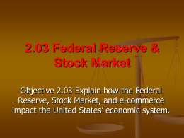 2.03 Federal Reserve & Stock Market