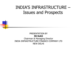 India`s Infrastructure