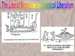 2. The Liberal Response to Classical Liberalism