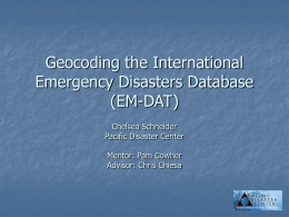 Geocoding the International Emergency Disasters Database (EM