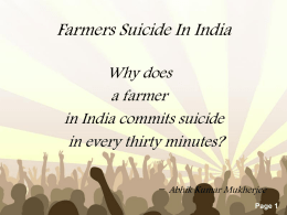 Crowded Concert - FarmersSuicideIndia