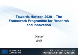 future EU research and innovation funding