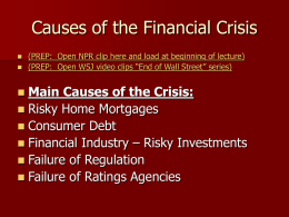 Causes of the Financial Crisis