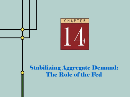 Stabilizing Aggregate Demand