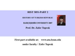 Part 2 - The Ataturk Institute for Modern Turkish History