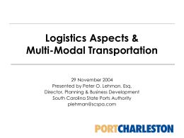 Logistics Aspects & Multi