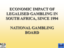 by the National Gambling Board