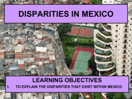 disparities in wealth in mexico - IBGeography