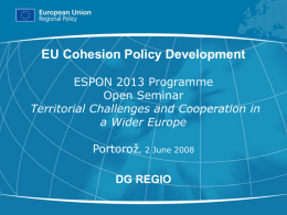 EU Cohesion Policy Development