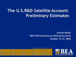 Update of the 1994 R&D Satellite Account