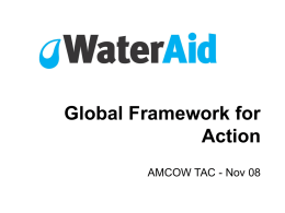 Global Water Aid: Framework for Action