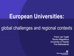 European Universities: global challenges and regional contexts