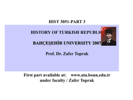 Part 3 - The Ataturk Institute for Modern Turkish History