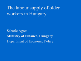 The labour supply of older workers