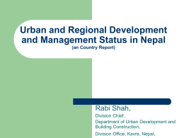 Urban and Regional Development and Management Status