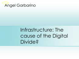 Why the Digital Divide?
