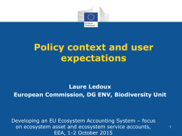 Policy context DG ENV - Eionet Projects
