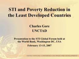 STI and Poverty Reduction in the Least Developed Countries
