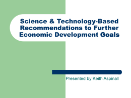 Science & Technology-Based Recommendations to Further