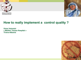 How to really implement a control quality? Virtut Velmishi