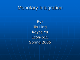 Monetary Intergration