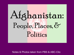 Afghanistan: People, Places, & Politics