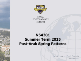 Post-Arab Spring Patterns