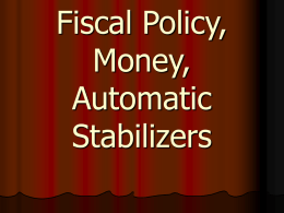 Fiscal Policy, Money, Automatic Stabilizers