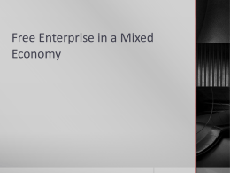 Free Enterprise in a Mixed Economy