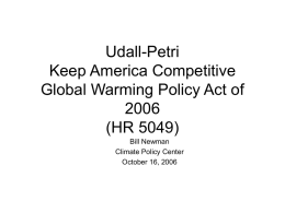 Udall-Petri Keep America Competitive Global Warming Policy Act of