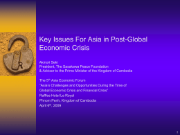 Dr. Akinori Seki - Asia Economic Forum (AEF)