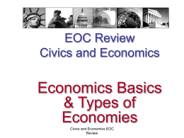 06- Economics and Types of Economies