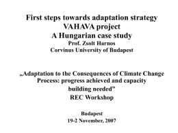 meeting the challenges of adaptation - VAHAVA project