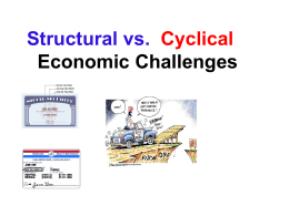 Cyclical versus Structural Economic Issues