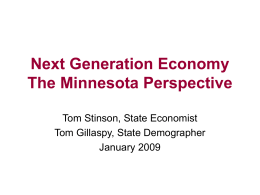 Next Generation Economy The Minnesota Perspective