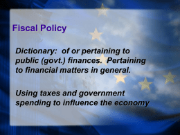 Unit 3 Fiscal Policy ppt