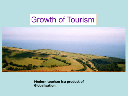 Growth of Tourism