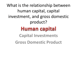 What is the relationship between human capital, capital investment