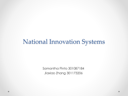Reflection Paper on National Innovation System