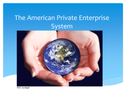 The American Private Enterprise System
